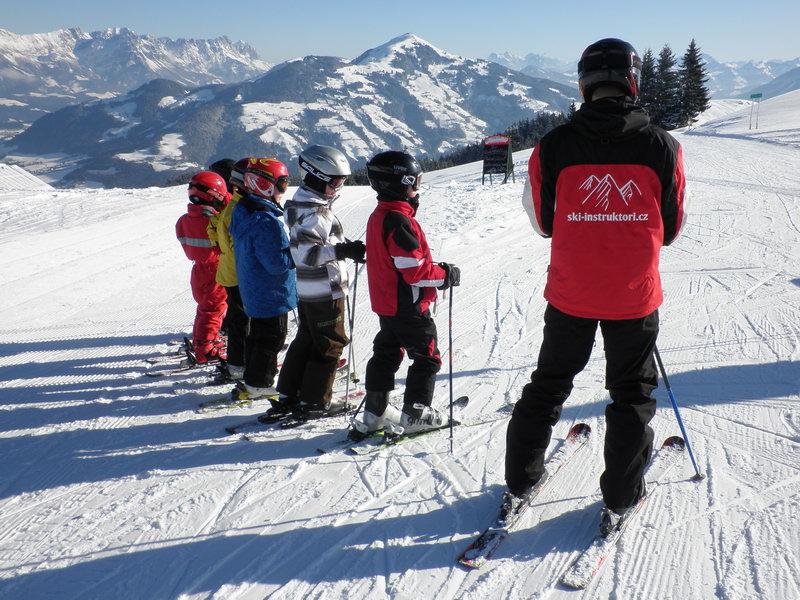 Lyžařská škola v Alpách