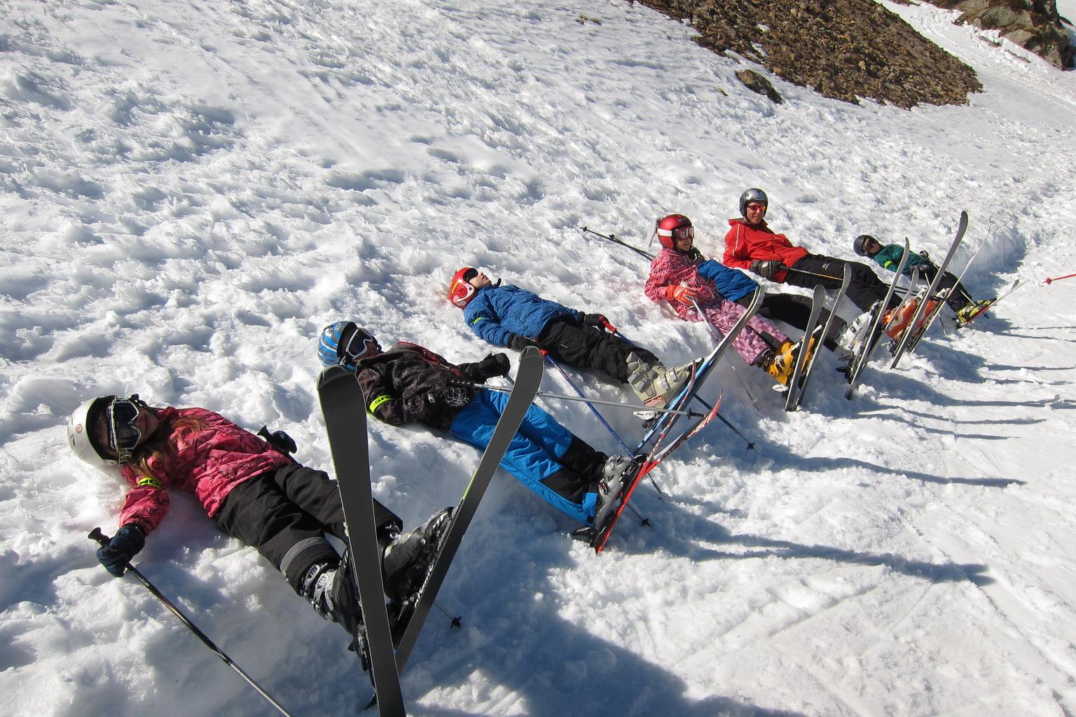 Lyžařská škola v Alpách pod Dachsteinem 2012